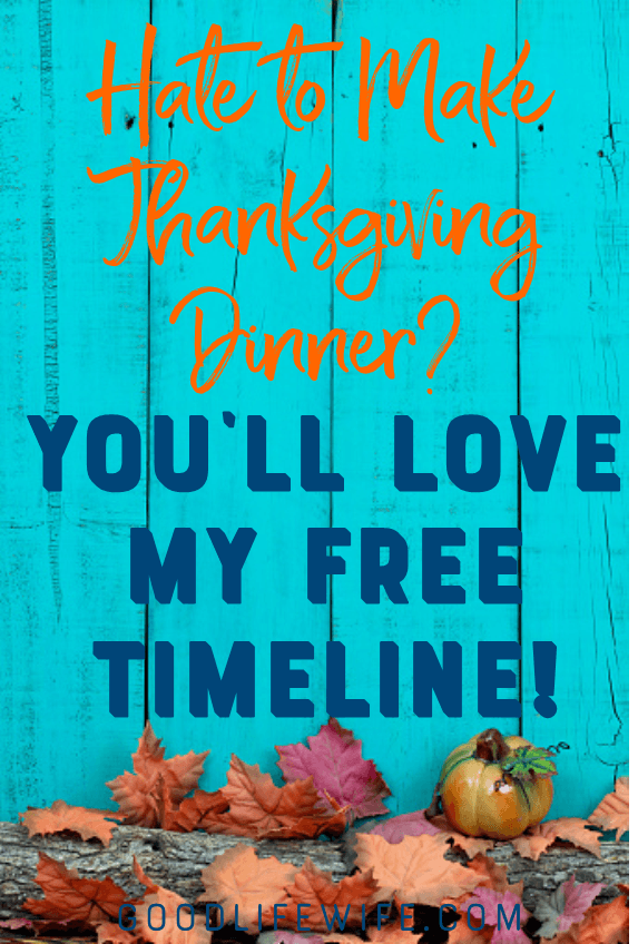 Make thanksgiving dinner easier with my free printable Thanksgiving Timeline!