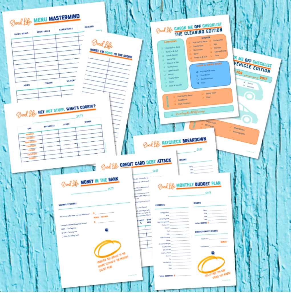Free printables for meal planning, cleaning and budgeting!