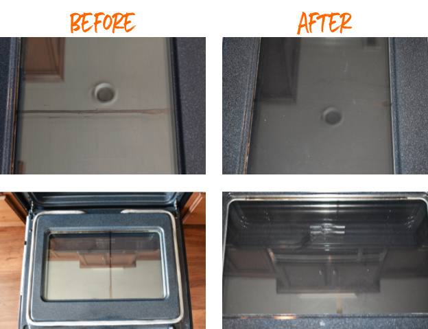 Want to know how to clean INSIDE your oven glass? Here's some tips to make it easier.