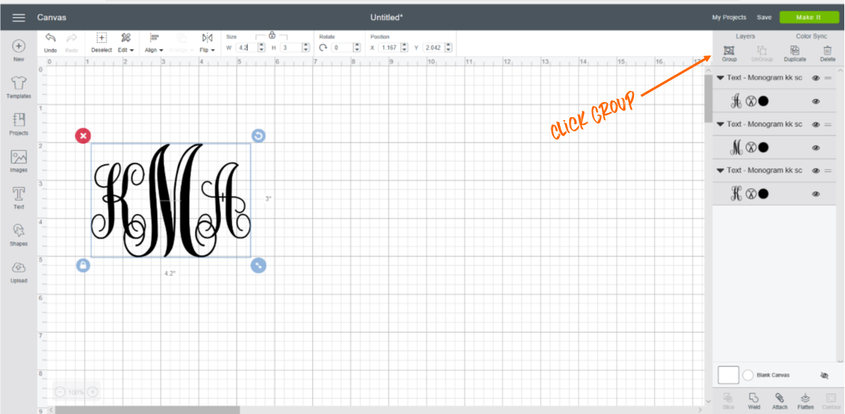 Check out this great tutorial on how to design monograms with Cricut Explore Air 2. Learn how to select fonts and size letters so your creations can go on everything!