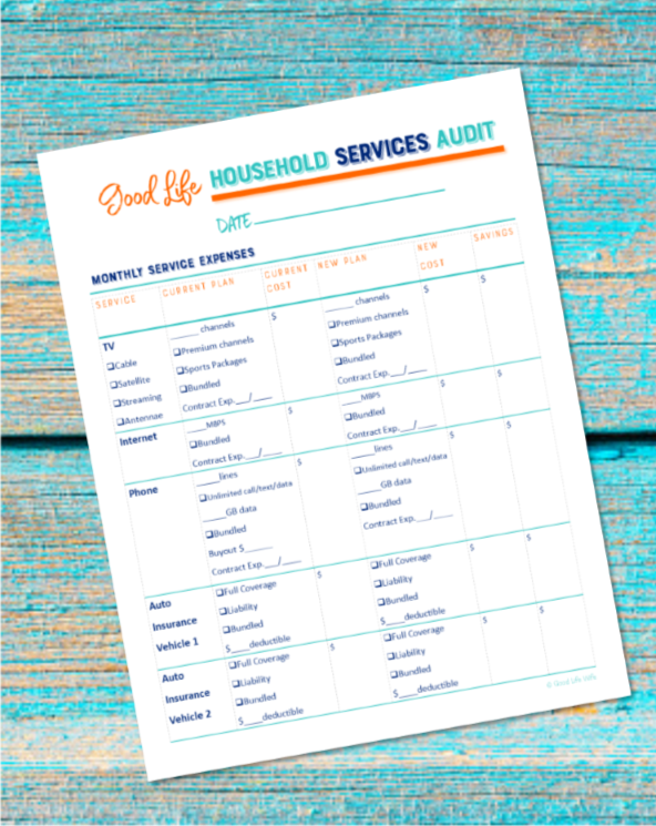 Would you like to learn how to save money on the services you use every month? Get tips on slashing your bills and a free printable!