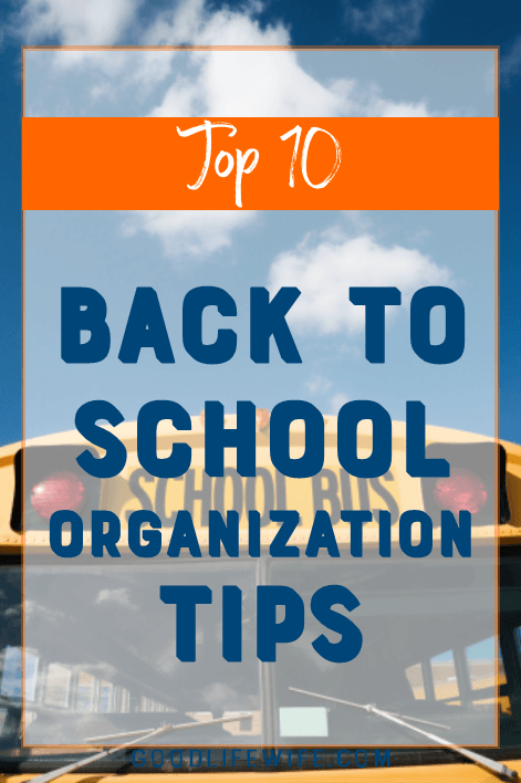 Life saving back to school organization hacks! Tips on morning routines, supplies, lunches, backpacks and clothes to make your school day run smoothly.