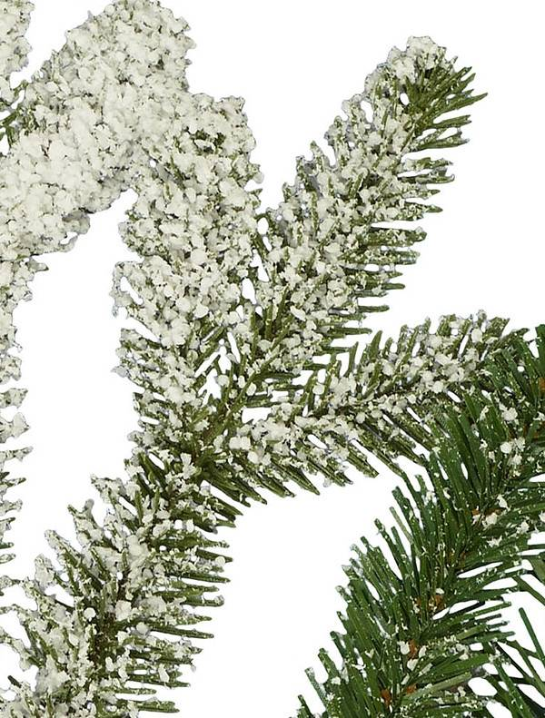 Flocked spruce tree