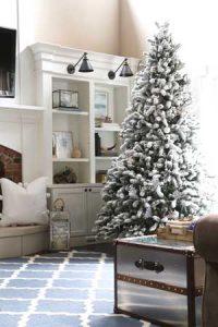 9' Flocked Christmas Tree